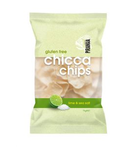 Piranha Range Chicca Chips Lime & Sea Salt 75g