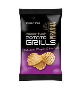 Piranha Range Golden Hash Potato Grills 75g Balsamic Vinegar & Sea Salt (GF)